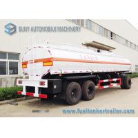 Quality High Performance 20000L 3 Axle Train Oil Tank Trailer With Ellipse Shaped for sale