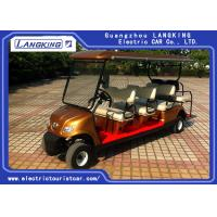 China Golden Colour  Electric Golf Carts 8 Seater With Curtis Controller For Hotel Reasort on sale