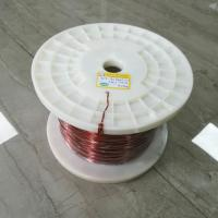 Buy cheap UEW Flat Copper Wire / Solderable Enamelled Copper Wire Polyurethane Insulation from wholesalers