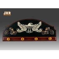 Quality Decorative Wood Clothes Hanger 3D Resin Motorcycle Wall Decor Antique Wooden Pub Signs for sale