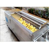Quality Carrots / Sweet Potato Washer , Tumbled Rubbed Fruit Vegetable Washer Machine for sale