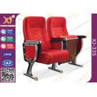 Quality Aluminum Leg Stackable Auditorium Chairs With ABS Tablet / Tip Up Seat for sale