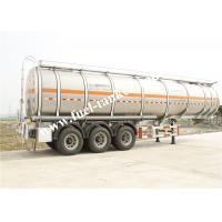 Buy cheap 36000 Litres fuel tanker trailer with tri - axle GUANGDONG FUWA alxes from Wholesalers