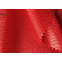 China Red Thin Breathable Polyester Tricot Knit Fabric 50GSM Textiles For Garment on sale