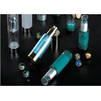 Quality 15ml, 30ml, 50ml PP Airless Cosmetic Bottle / Lotion Bottle With Transparent Cap for sale
