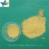 Quality Textile/coating/paper making industry use golden cerium zirconia grinding media for basket mill for sale