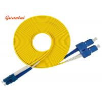 Quality 3.0m SC - LC Duplex Fiber Optic Patch Cable 1310nm To 1550nm Wavelength for sale