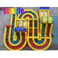Quality inflatable bouncer castle giant slide for sale