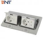 Quality waterproof design hidden pop up type double floor sokcet outlet box for sale