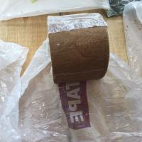 Buy Brown Petroleum Tape For Wrapping Pipes And Fittings Standard AWWA C 217 EN 12068 at wholesale prices