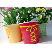 Quality 21oz 1000ml Flower Paper Pot Flexo Print Double PE Coated For Potted Plant for sale