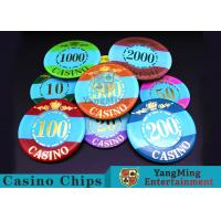 Mini Engraved Customizable Casino Poker Chips For Entertainment Venues Games
