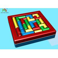 China Commercial Backyard Toddler Sport Games Inflatable Twister Mattress Combine Building Block on sale