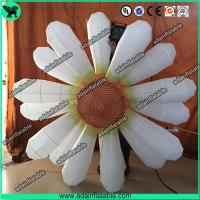 Quality 2m Beautiful White Flower Inflatable Led Light For Party Wedding Decoration With Blower for sale