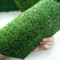 China Green Indoor Fake Grass Installed Around Airport Apartment Gas Station on sale
