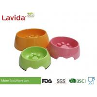 Quality Custom Made Solid Color Melamine Pet Bowl , Pet Feeding Bowls With Logo And Print for sale