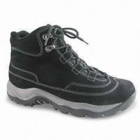 Quality Men's Suede Climbing Shoes, Available in Black with Mesh Lining for sale