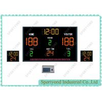 Buy cheap Small Electronic Basketball Scoreboard With Shot Clocks And Play Period Time from Wholesalers