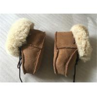 China Genuine Sheepskin Baby Shoes , Winter Boots for Infant / Toddler on sale
