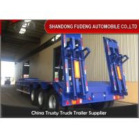 Quality 3/4 Axles 60 Tons With Mechanical Ladder Lowboy Semi Trailer  For  Sale for sale