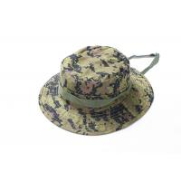 Quality Digital Green Army Tactical Cap , Ripstop Multicam Boonie Hat Adjustable String for sale