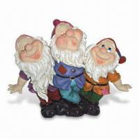 China Hand-painted Garden Dwarf/Gnome Decoration, Made of Polyresin, OEM Designs are Accepted on sale
