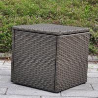 Quality Outdoor Patio Resin Wicker Deck Box Storage Container Bench Seat, 21 Gallon, Anti Rust, All Weather Resistant for sale