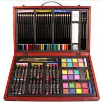 Quality Beven 79 Piece Studio Art & Craft Supplies Drawing and Painting Set in Wood Box for sale
