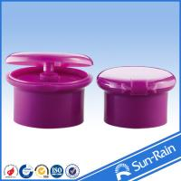 Non spill plastic cap shampoo flip top bottle cap for cosmetic packaging