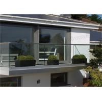 Outdoor Tempered Glass Balcony Railing Systems , Glass Balustrade Systems For Decking