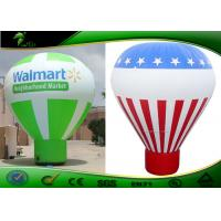 Quality Rainbow Colors Ground Ball Inflatable Advertising Balloons With Logo for sale