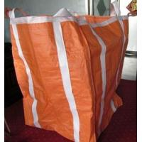 Two Ton Loading Orange Big Bag FIBC With Four Loops 10'' High / Fully Belted for sale