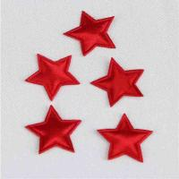 Quality Red Satin Padded Applique Crafts DIY Decoration Eco - Friendly Holiday Appliques for sale