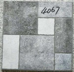 Buy cheap Grey Bathroom 400x400 Floor Tiles Rustic 3d Inkjet Printing Interior Exterior from wholesalers