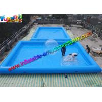 Square inflatable swimming pool blow up inflatable family pool of inflatableamusementpark Square swimming pools for sale