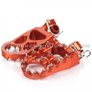 Quality CNC Billet Aluminum Dirt Bike Foot Pegs For SX 125 250 300 EXC 200 250 300 for sale
