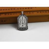 Quality Custom Stainless Steel Buddhist Symbol Necklace With Antique Scripture for sale