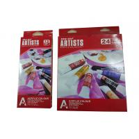 Quality Free Combination Color Art Painting Colours Acrylic Color Set 12 X 12ml / 24 X 12ml Tubes for sale