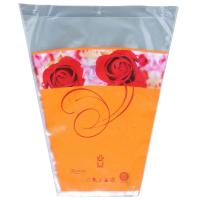 Cellophane Wrapping Flower Plastic Sleeves / Trapezoid Eco-friendly Flower Wrap Sleeve Bags