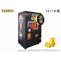 Quality Shopping Mall Commercial Orange Juice Vending Machine Coins And Notes Acceptors for sale