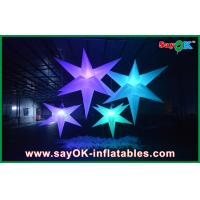 Quality White Polyester Cloth Inflatable Led Star Lighting 1.5m / 2m For Party for sale