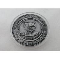 Quality 2D or 3D Personalized Coins / School Campus Coin with Antique Silver, Anti Nickel, Anti Brass Plating for sale