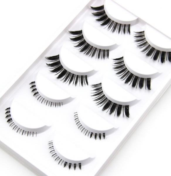 pairs faux mink eyelashes synthetic fake lashes false eyelashes ...