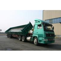 Quality 3 Side Dump Trailer / Open-top Tank Semi Trailer For Long Tipper , low center of gravity for sale