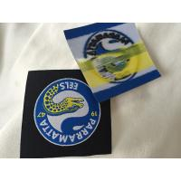 Heat Cut Woven Iron On Garment Labels With Glue Back , Custom Name Labels For Clothing
