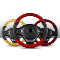 Quality Modern Hand Sewing Car Steering Wheel Cover Wood Classic Design Medium Size for sale