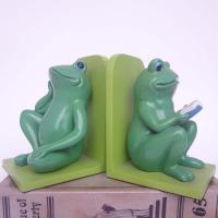Quality Polyresin Book End/ Frogs Book ends for sale