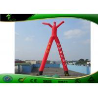 Quality Giant 2 Legs Inflatable Air Dancers / Red Inflatable Wave Man Sky Dancer For Outdoor for sale