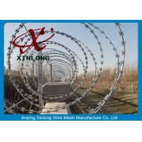 Quality Eco-Friendly Razor Barbed Wire Prison Fence 0.5mm Thickness for sale