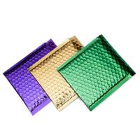 Quality Colorful Metallic Glamour Bubble Mailers , Metallic Shipping Envelopes Tear Resistant for sale